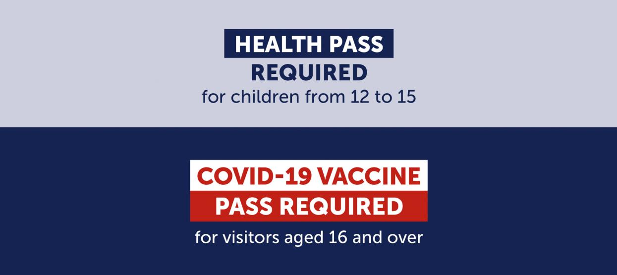 A health pass is requested at the entrance